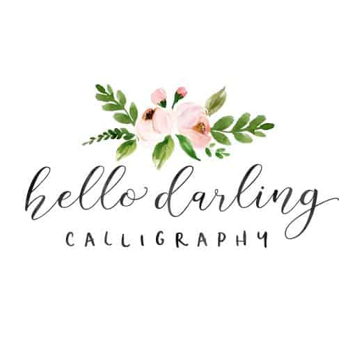 Hello Darling Calligraphy logo